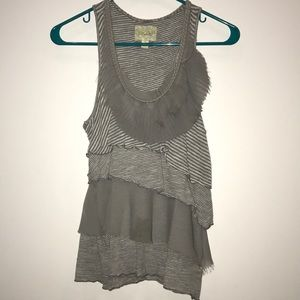 Racer back tiered ruffle tank
